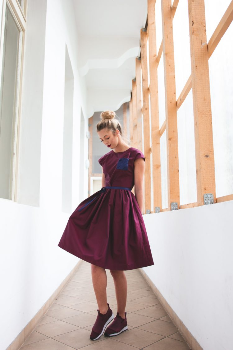 dress Platinum Bordo