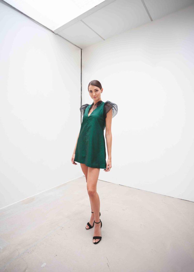 mini šaty brokát hedvábí  SARTOR