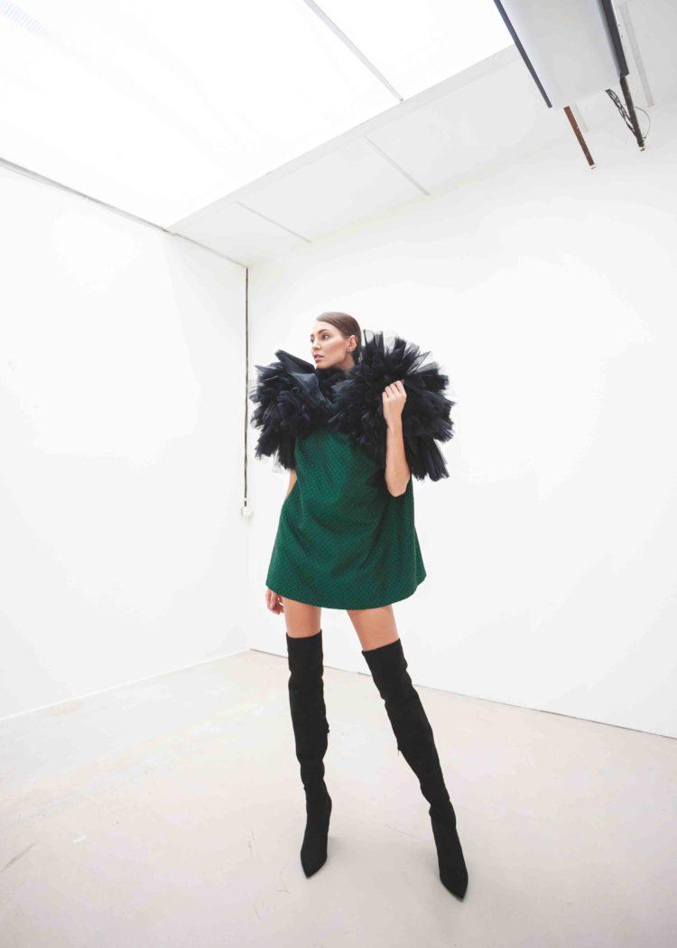 mini šaty oversize brokát tyl SARTOR
